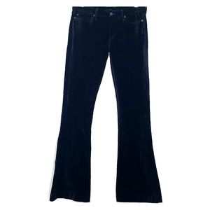 7 FOR ALL MANKIND Black Velvet Jiselle Flare Pants